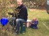 Rolf ist mit Ergometertraining, Garten und Enkel ausgelastet