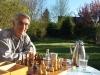 Bernd Rabe spielt nun viel Schach - gegen sich selber...