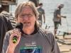Begrüßung von Aktiven, Helfern und Zuschauern: Claus Feucht - Vorsitzender der Stifung 'LEben mit Krebs'