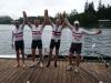 MM4xE auf dem Siegersteg, Georg, Bernd, Gunnar und Rolf