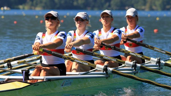 Ruder-WM 2011 in Bled. Der deutsche Leichtsgewichts-Doppelvierer der Frauen. Foto: O. Quickert
