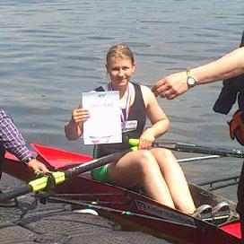 Lisa Marie Wieland war im Einer nicht zu schlagen und gewann in Bad Segeberg LM-Gold. Foto hfr
