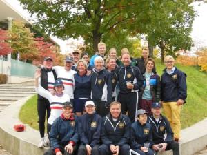 Gute Laune beim Gruppenbild: Die Kieler Ruderer waren mit ihrem Auftritt in der Hauptstadt sichtlich zufrieden.