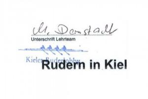Die Unterschrift auf dem ersehnten Dokument