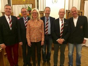 Bernd Klose, Geotg Moll, Gaby Schulz, Rolf Zumegen, Claus Höppner, Ulf Beck (von links)