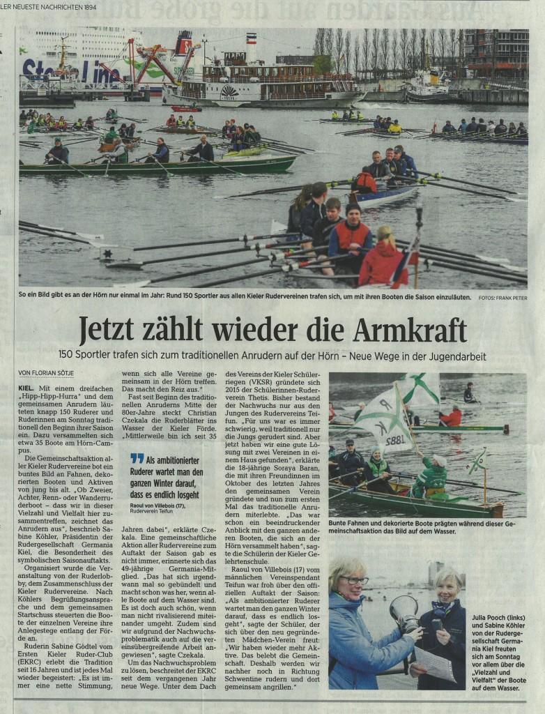 Kieler Nachrichten vom 11.4.16