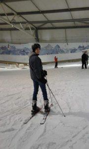 Simon Kempf auf Ski